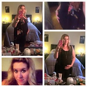 Tank from H&M, leggings from PINK, vest from Target.  Nothing is maternity.
